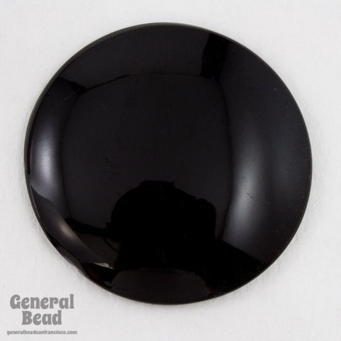 32mm Black Dome Cabochon