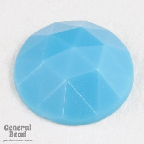10mm Opaque Aqua Cabochon