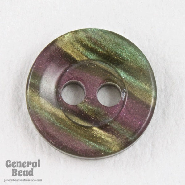 11mm Pearly Olive/Violet Shirt Button