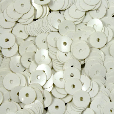 5mm White Flat Sequin-General Bead
