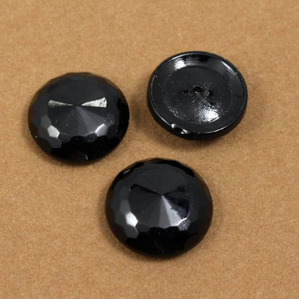 18mm Black Faceted #502