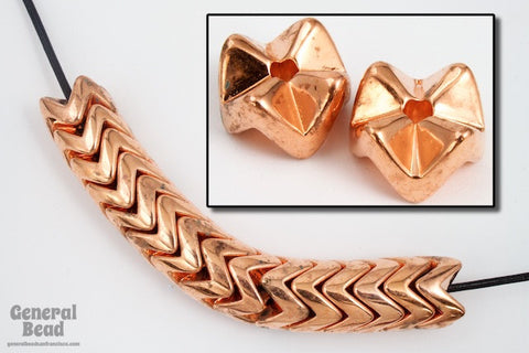 10mm Copper Plated Snake Bead (4 Pcs) #5133
