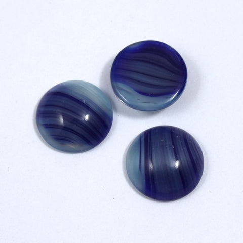 13mm Indigo Stripe Round Cabochon #XS7-E-General Bead