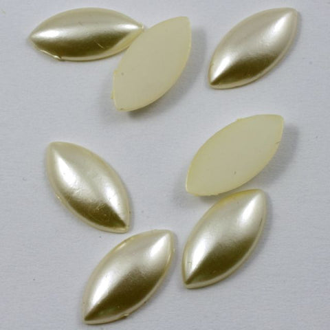 7mm x 14mm Cream Navette-General Bead