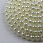 26mm Round Cream Beaded Cabochon