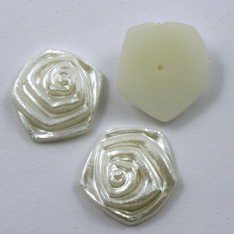 21mm Round Cream Rose-General Bead