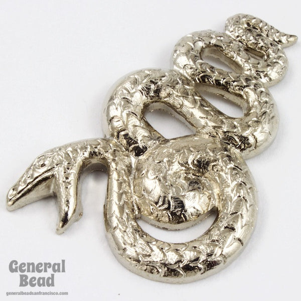 32mm Silver Serpentine Snake