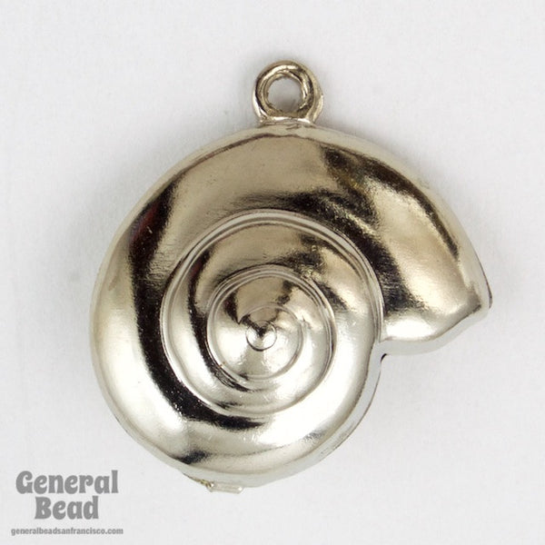 15mm Silver Spiral Shell Charm