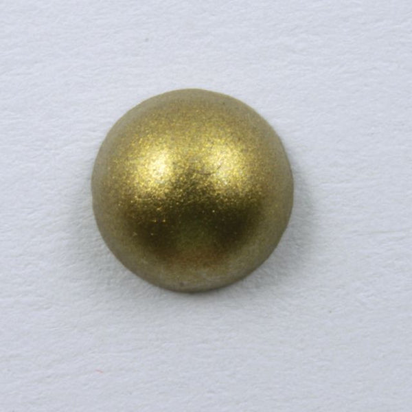 7mm Matte Gold Round Cabochon (8 Pcs) #547