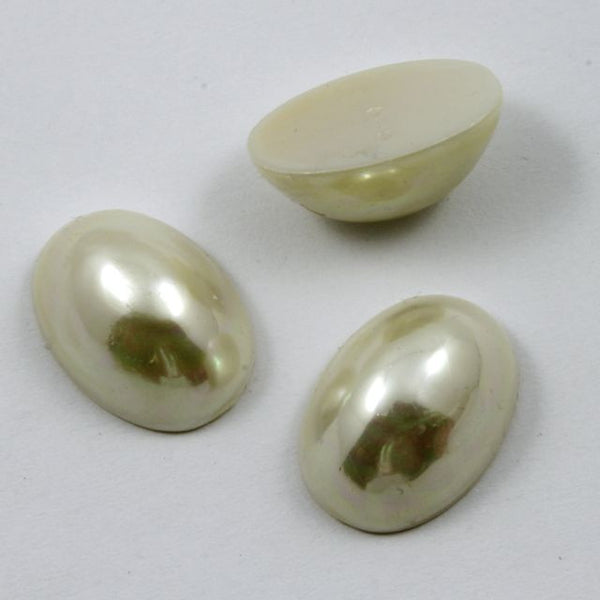 14mm x 20mm Cream Pearl High Dome Oval Cabochon