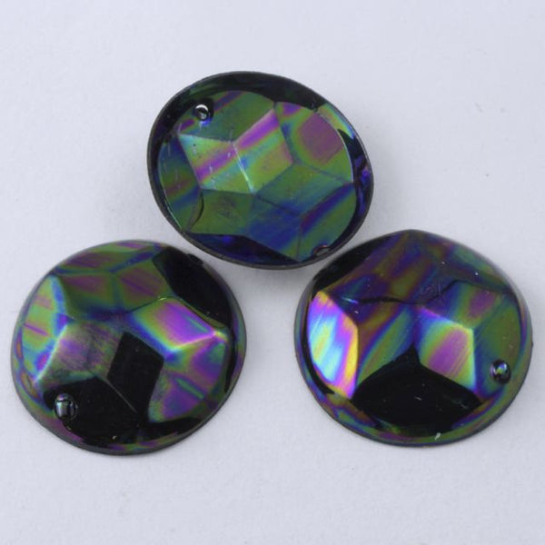 16mm Jet AB Star Dome Sequin