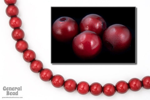 8mm Cranberry Wonder Bead (25 Pcs) #5743-General Bead