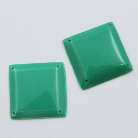 18mm Emerald Green Square Sequin-General Bead
