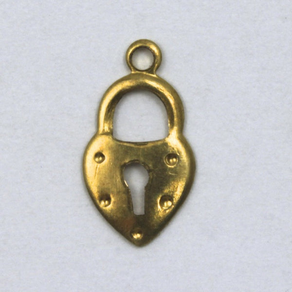 12mm Brass Heart Padlock (4 Pcs) #58