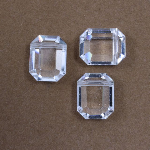12mm x 15mm Crystal Rectangle-General Bead