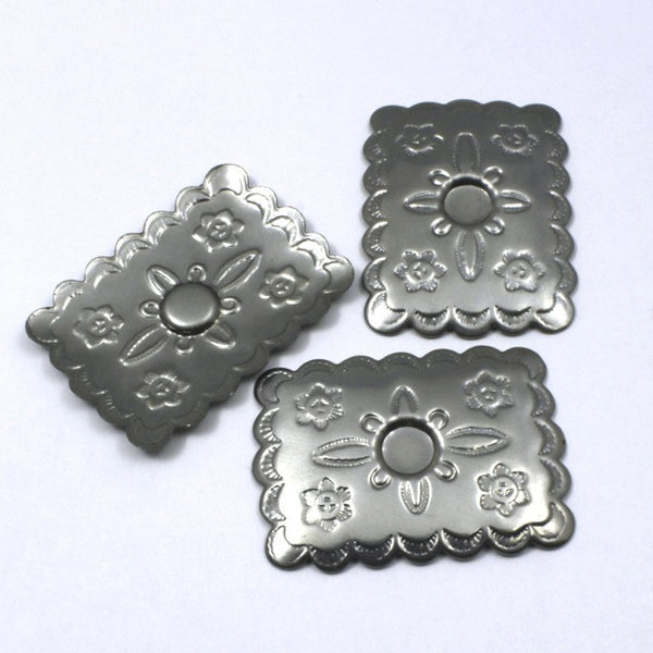 30mm Silver South West Style Rectangle #61