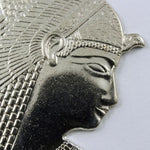 40mm Silver Colored Pharaoh Head #621-General Bead
