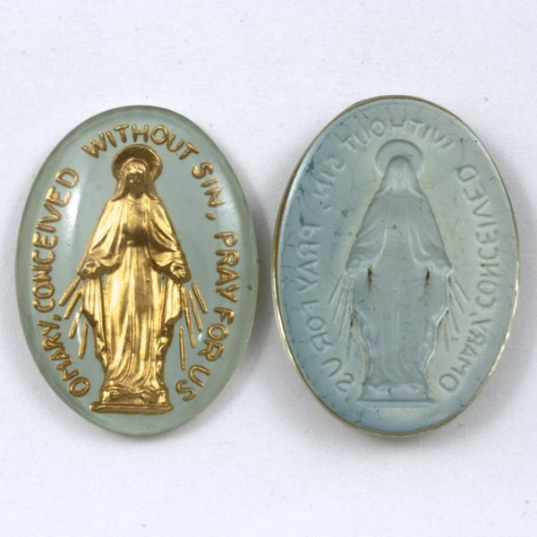 25mm Blue Mother Mary Oval