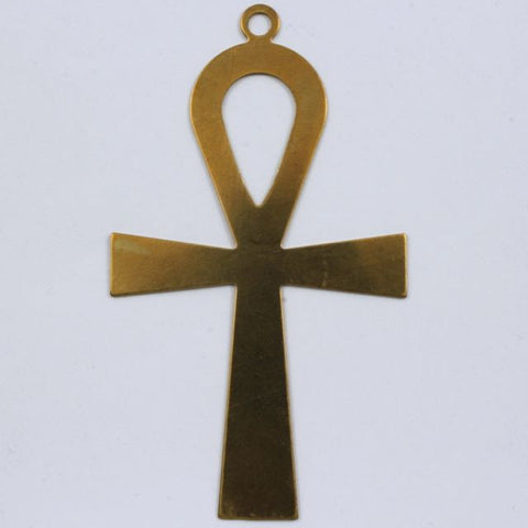 72mm Raw Brass Ankh #BRA004-General Bead