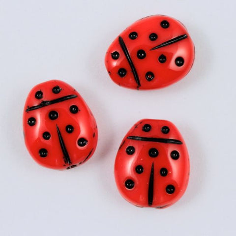 9mm Red Ladybug (4 Pcs) #641-General Bead