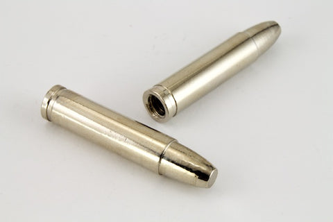 "32mm Silver ""Bullet"" Bolo End #6472-General Bead"