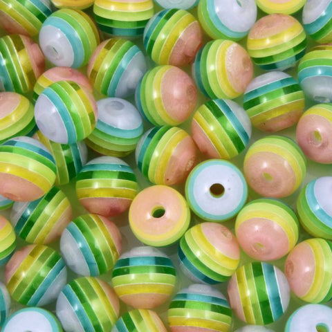 8mm Pastel Stripe-General Bead