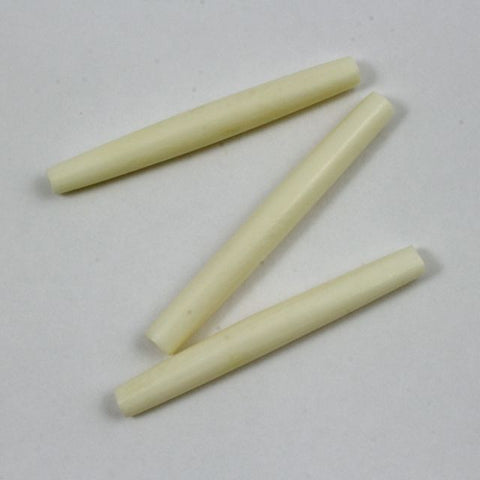 2 Inch White Bone Hair Pipe #BNH022-General Bead