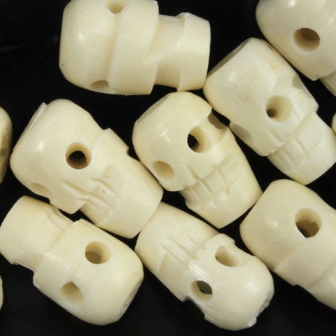 13mm Bone Skull Bead-General Bead