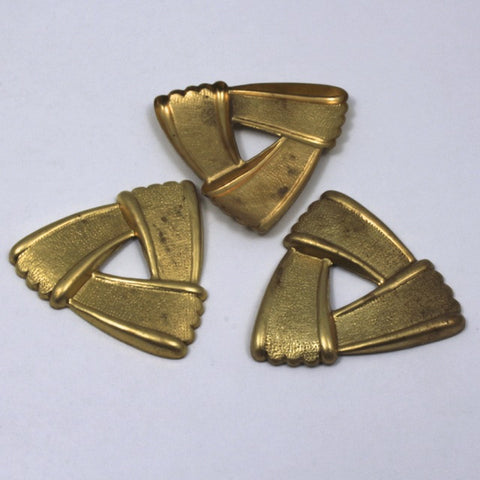 35mm Raw Brass Overlapping Triangle #66-General Bead