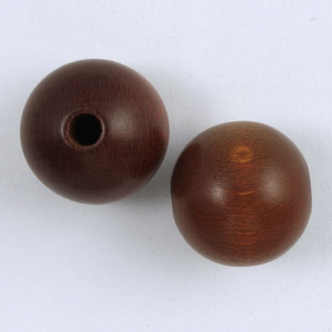 16mm Brown Round Wood Bead-General Bead