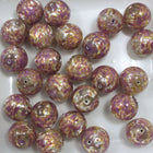 Lilac/Peach/Silver 14mm Handmade #718-General Bead