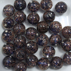 14mm Handmade Dark Blue/Gold Bead #723-General Bead