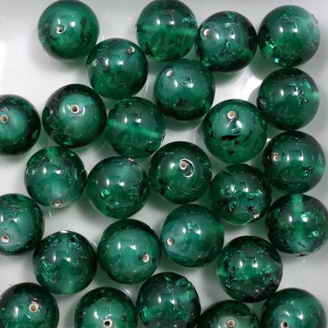 Teal/Metallic 14mm Handmade #728-General Bead
