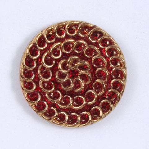 23mm Red with Gold Lace Cabochon #XS64-C-General Bead