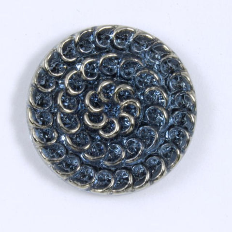 23mm Montana with Silver Lace Cabochon #XS64-E-General Bead