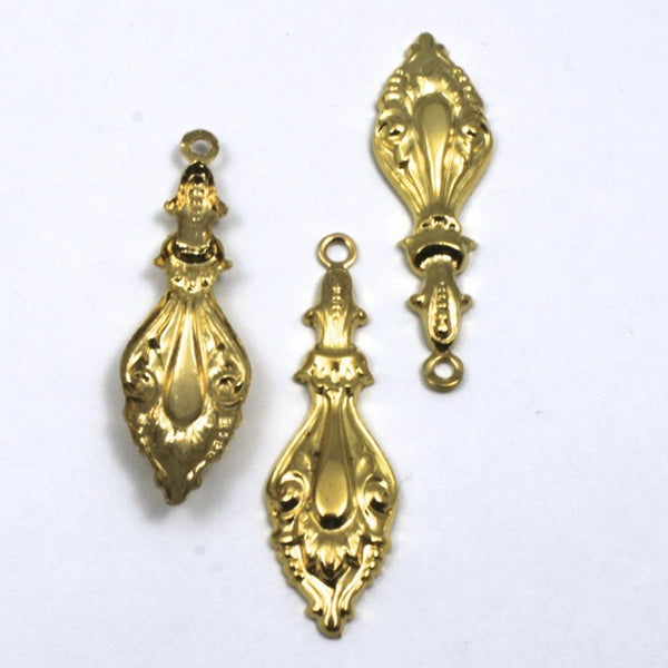 40mm Gold Victorian Ear Drop