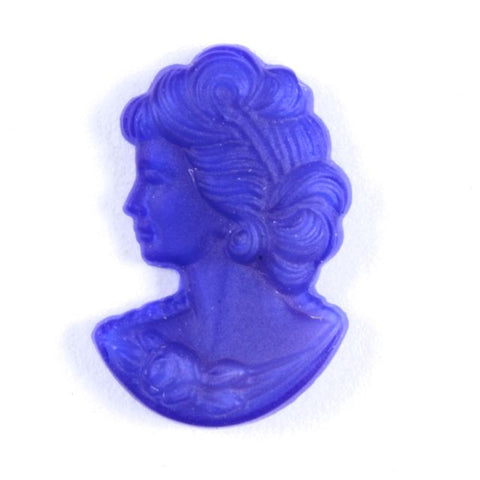 8mm x 12mm Matte Cobalt Glass Lady's Profile #809-General Bead