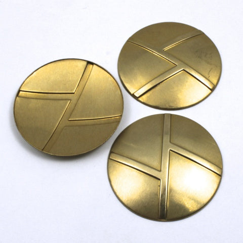 40mm Raw Brass Geometric Dome #80-General Bead