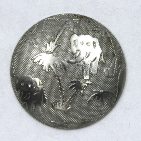 25mm Steel Dome with Elephant Oasis Motif-General Bead