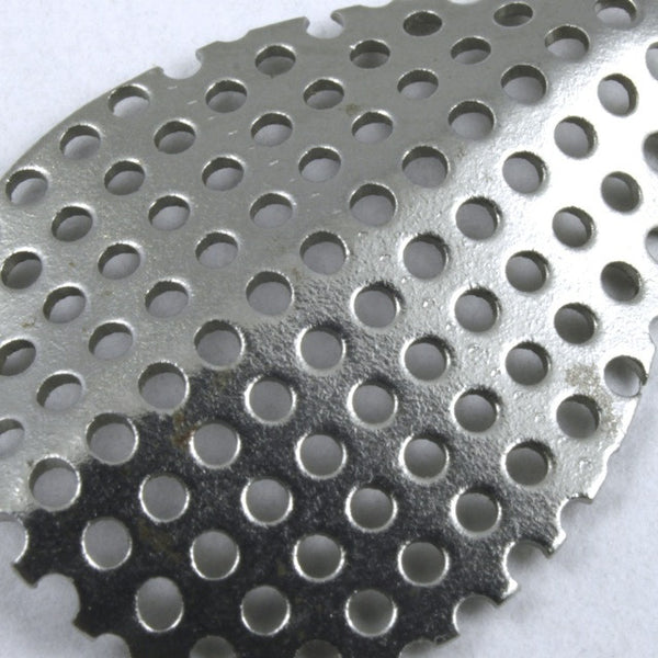 20mm Steel Perforated Bisected Teardrop