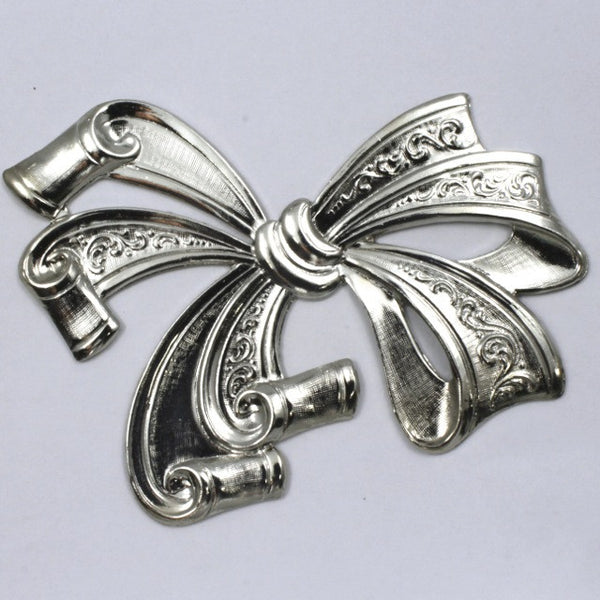 60mm x 75mm Silver Fancy Bow