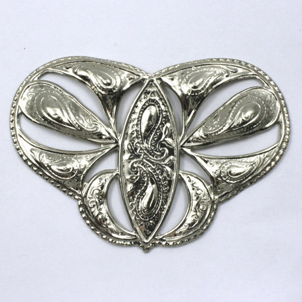 75mm Vintage Silver Butterfly Filigree #97