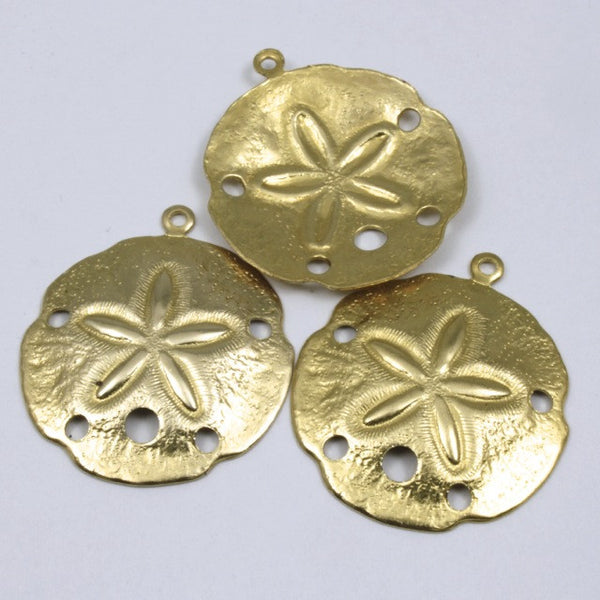 25mm Gold Sand Dollar