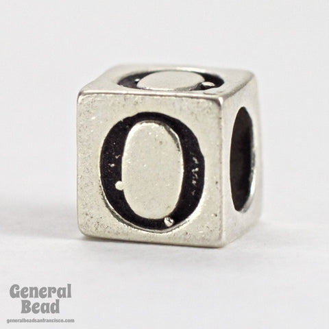 "5mm Sterling Silver ""0"" Number Cube-General Bead"