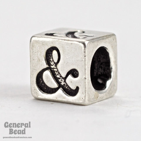 "5mm Sterling Silver ""&"" Alphabet Cube-General Bead"