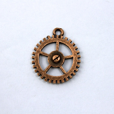 18mm Antique Copper Gear Charm-General Bead