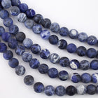 10mm Round Matte Sodalite Strand-General Bead