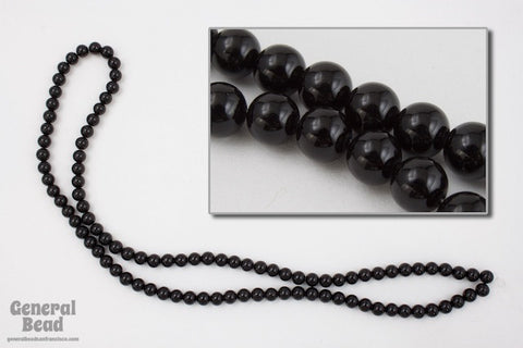 "16"" 4mm Round Blackstone Strand #SP55"