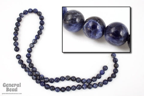 "16"" 6mm Round Sodalite Strand #SP57"
