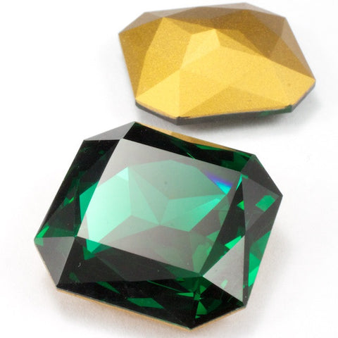 4675 23mm Emerald Square Doublet-General Bead